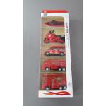 Набор машинок (Alloy toy) металлические красные 5 шт.